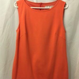 Trina Turk Orange,Blue&White Sleeveless Dress